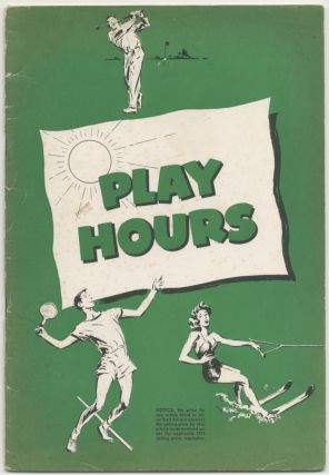 [Abercrombie & Fitch Co. Trade catalog]: Play Hours (1952)