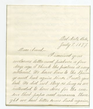 Three Autograph Letters Signed to her aunt about family life and silver mining in Colorado