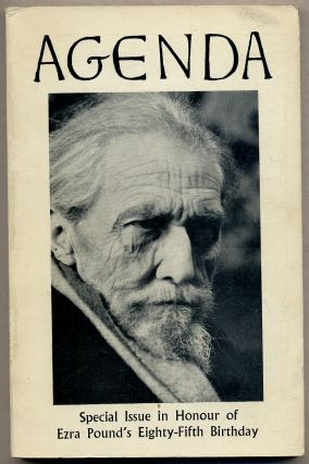 Agenda: Special Issue in Honour of Ezra Pound's Eighty-Fifth Birthday: Autumn-Winter, 1970, Vol....