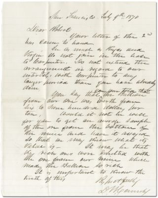 Two Autograph Letters Signed about Silver mining in Nevada