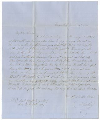 1852 Letter from a Connecticut Schoolboy Referencing Football
