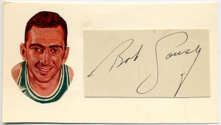 Signed Card. Bob COUSY