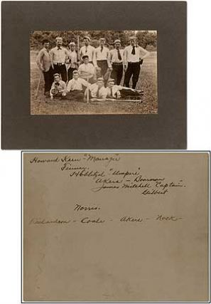 Photograph]: Baseball Team, Circa 1890