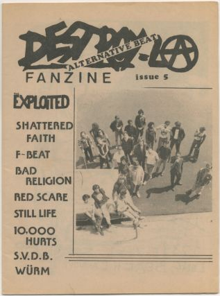 Zine]: Destroy L.A. - Issue No. 5. The Exploited Bad Religion, S. V. D. B., 000 Hurts, 10, Still...