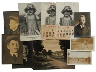 Seven Original Photographs, with related material