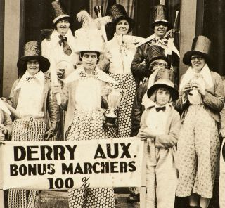 [Cabinet Photograph]: Derry Aux[iliary] Bonus Marchers 100% [Bonus Army]