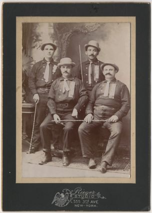 Cabinet Card]: New York City Carriage Hansom Cab Drivers[?