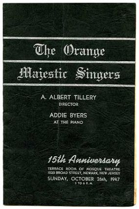 The Orange Majestic Singers (cover title