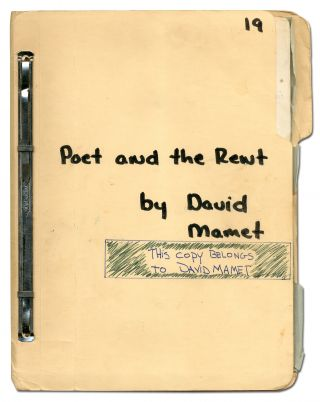 Poet and the Rent. David MAMET