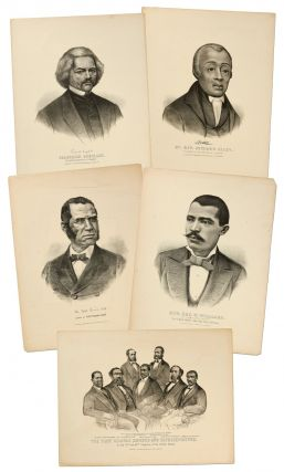 Lithographs]: Five Currier and Ives Lithographs of Four Prominent African-Americans and a...