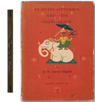[Brass binding die-stamp for the spine of]: Princess September and the Nightingale