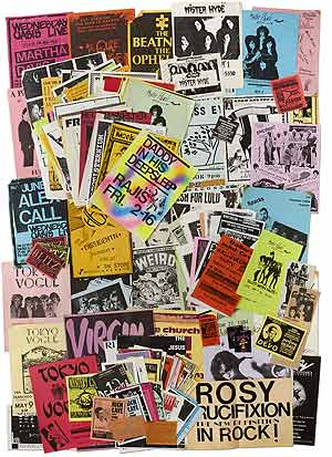 Flyers]: 1980s-1990s California Area New Wave and Gothic Music Flyers