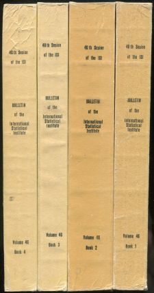 Bulletin of the International Statistical Institute: Proceedings of the 40th Session: 4 Volumes,...