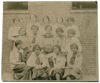 Portrait Photograph]: B.H.S. Black Women's Basketball Team