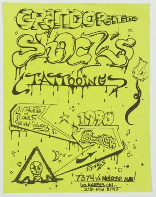 [Flyers]: 1980-1990 Counter Culture and Event Flyers in California Area