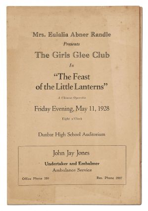"Program]: Mrs. Eulalia Abner Randle Presents The Girls Glee Club in ""The Feast of the Little..."