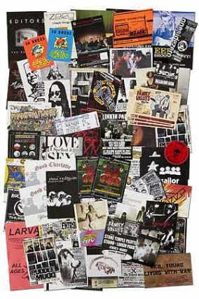 Handbills]: Handbills and Postcards for Alternative Rock, Metal, and Electronic Music from...