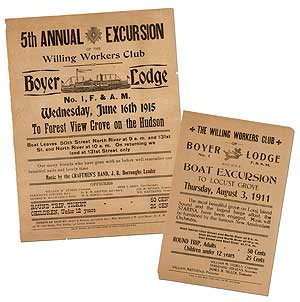 Broadsides]: Two Broadsides Promoting Excursions of the Willing Workers Club
