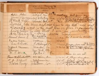 Guestbook of Scarsdale Socialite Amy June Wilson