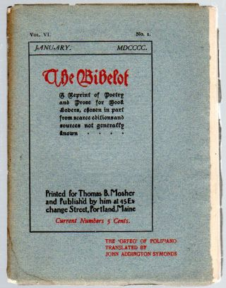 The Bibelot: A Reprintof Poetry and Prose for Book Lovers... - January 1900 (Volume VI, Number 1