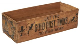 Wooden Box]: Let the Gold Dust Twins Do Your Work. Circa 1900