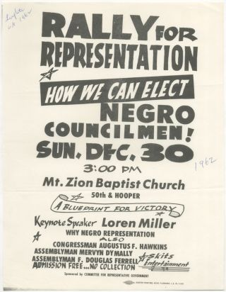 Flyer): Rally for Representation How We Can Elect Negro Councilmen!