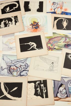 Original Art]: A Collection of 26 Watercolor Paintings and 48 Pen and Ink Drawings depicting the...