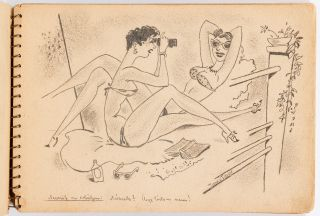 Risque Hungarian Art Sketchbook. Circa 1950