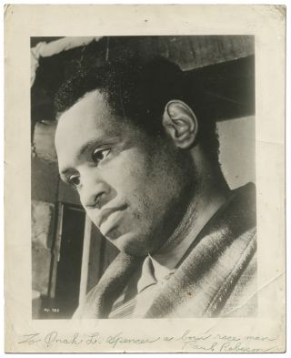 Inscribed Photograph. Paul ROBESON