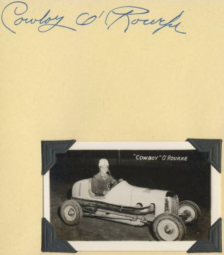(Autograph album with photos): Midget Stock Car Drvier Autographs