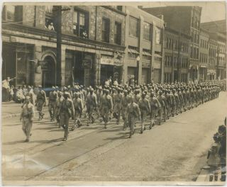 (Photograph): African-American Soldiers on Parade in Holyoke, Massachusetts