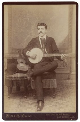 Cabinet Photograph of a San Diego Banjo Player