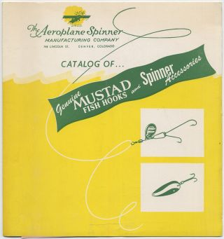 Catalog of Genuine Mustad Fish Hooks and Spinner Accessories