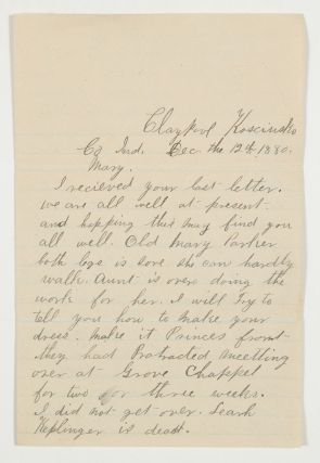 A Humorous Autograph Letter Signed from a Young Woman to her Prying Mother-in-Law