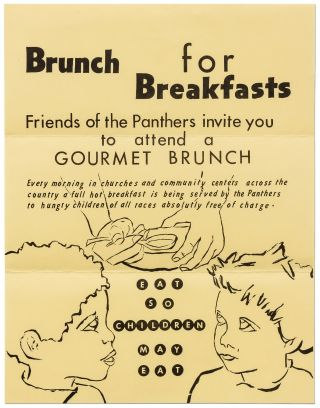 Broadside]: Brunch for Breakfasts: Friends of the Panthers invite you to attend a Gourmet...