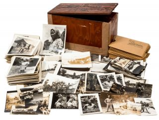 Archive]: Box of Photographs taken by a Press Photographer for the US Navy during World War II