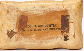 Primitive Carvings of Wooden Fruit, Vegetables, and Groceries made by the Delta Art Center, W.P.A. Mississippi Art Project