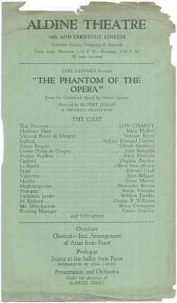 [Handbill]: The Phantom of the Opera. Lon CHANEY.