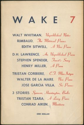 Wake – 7. Henry MILLER, Richard Wilbur, Louis Simpson, William Carlos Williams, Robert Creeley,...