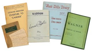 Five Music Scores from the Library of Jack Gottlieb. Leonard BERNSTEIN, Aaron Copland