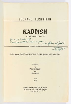 Five Music Scores from the Library of Jack Gottlieb