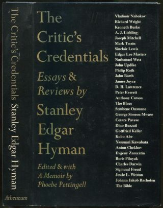 The Critic's Credentials: Essays & Reviews