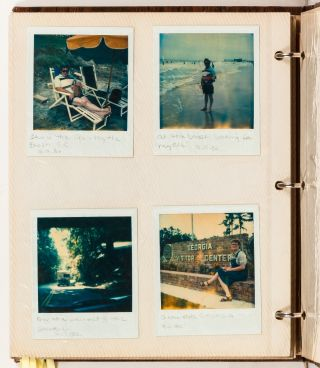 [Photo Album]: Young Couples Travel Polaroid Photo Album Album to the Mid-West During the 1980s