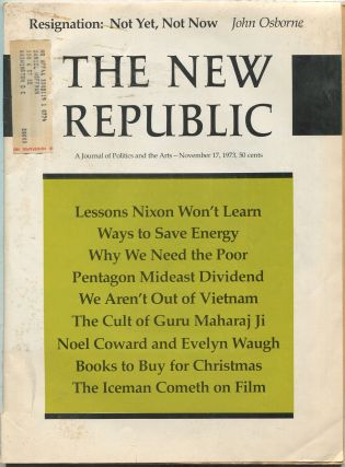 The New Republic: A Journal of Politics and the Arts: November 17, 1973, Vol. 169, No. 20, Issue 3071