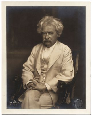 Portrait Photograph of Samuel Clemens (Mark Twain)