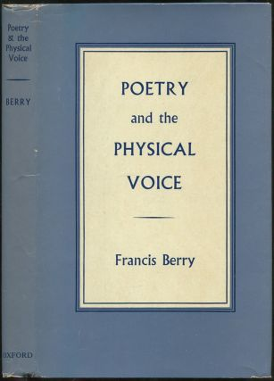 Poetry and the Physical Voice