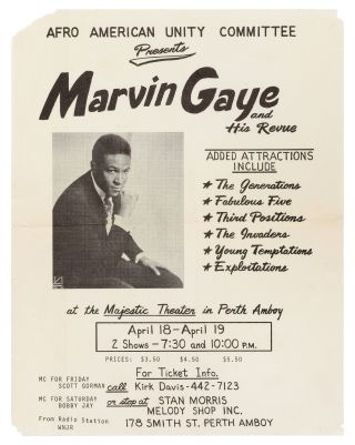Flyer]: Afro American Unity Committee Presents MARVIN GAYE and His Revue. Added attractions...