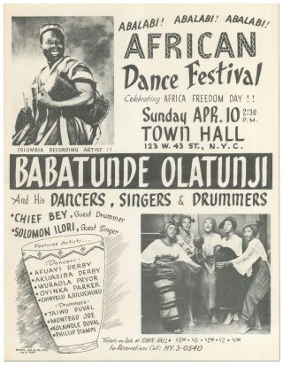 Flyer]: Abalabi! Abalabi! Abalabi! African Dance Festival Celebrating Africa Freedom Day!!......