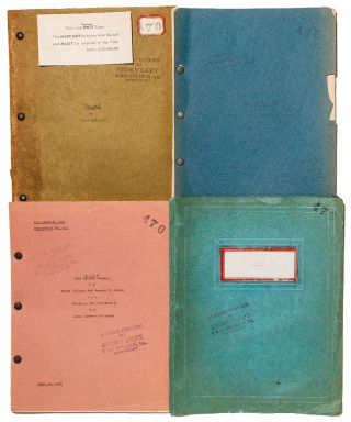 The Studio's Own Copies of Four Successive Scripts for King Kong, with the three-part script for...