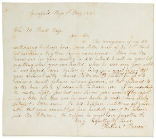 "Autograph Letter Signed (""Perkins & Brown""). John BROWN"